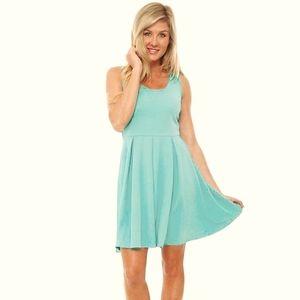 ⚘White Mark Dress - Mint Color